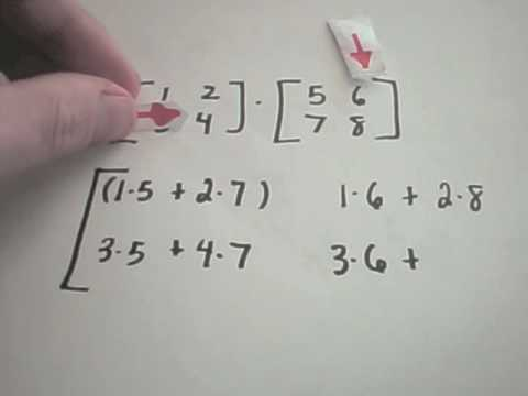 Multiplying Matrices - Example 1