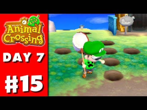Animal Crossing: New Leaf - Part 15 - Griefed with Holes (Nintendo 3DS Gameplay Walkthrough Day 7)