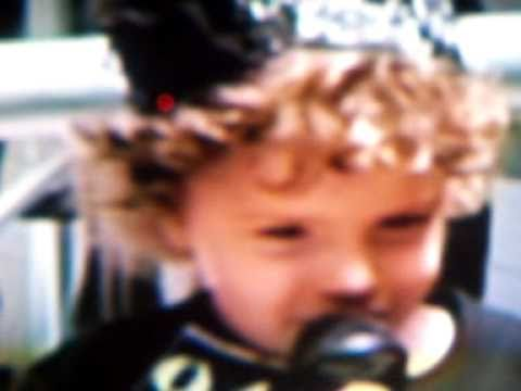 Christina singing on stage 2 years old.mov