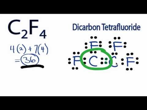 C2F4 Lewis Structure  How to Draw the Lewis Structure for C2F4P2h4 Molecular Geometry