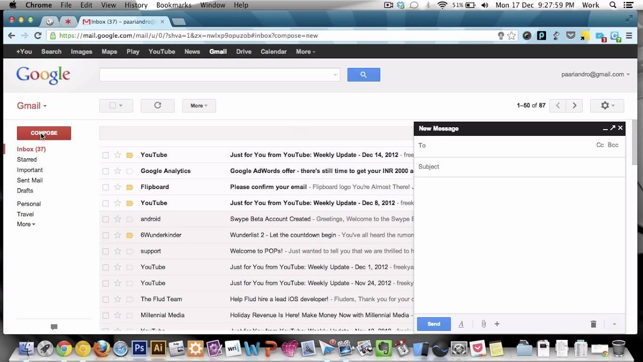 how to share gmail drive attachment