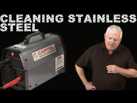 Cleaning Stainless Steel Welds with an Electric Weld Cleaner   TIG Time