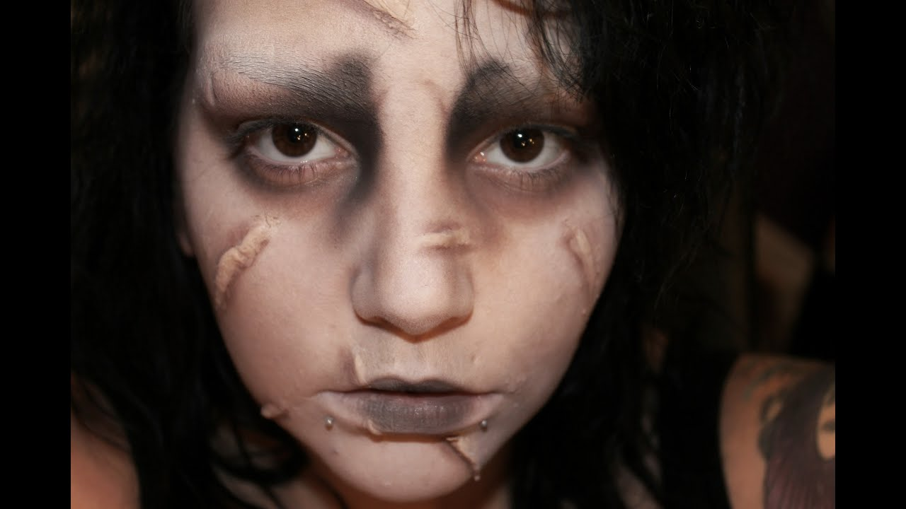 Edward Scissorhands Makeup - YouTube