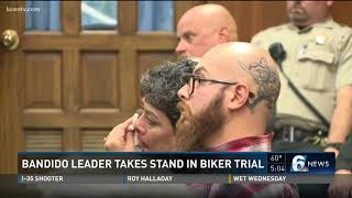 Bandido leader takes stand in biker trial