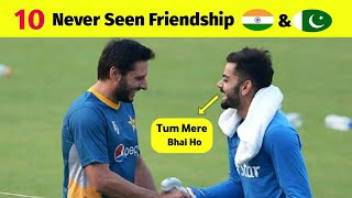 Top 10 Never Seen India vs Pakistan Friendship Moments | Sportsmanship