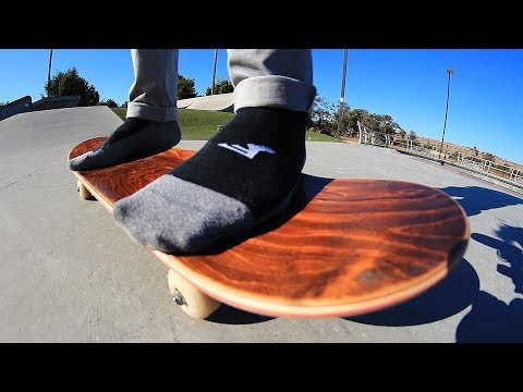 SOCKS ONLY NO GRIP TAPE SKATE! *BLOOD ALERT* | STUPID SKATE EP 109