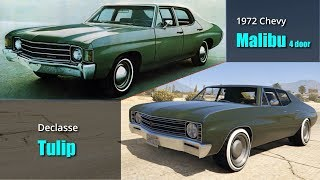 GTA V Muscle cars VS Real Life Counterparts | GTA V vs Real Life Part 2