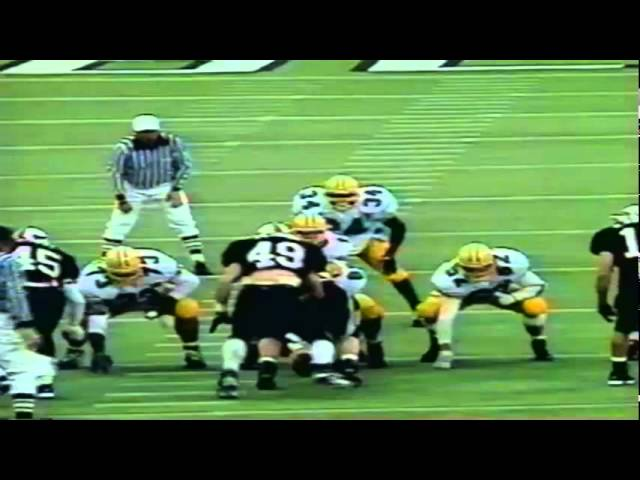 Oregon WR Cristin McLemore 17 yard catch vs. OSU 11-19-1994