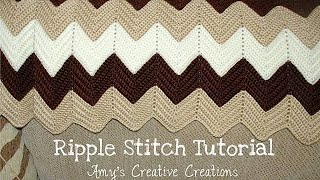 Crochet Ripple Stitch Afghan Tutorial