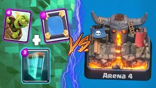 GOBLIN BARREL Mirror+Clone TROLLING Arena 4! - Clash Royale - (Drop Trolling #4)