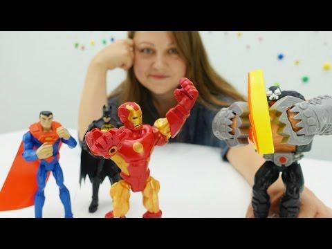 СУПЕРГЕРОИ Марвела Avengers против злодея Бейна. Видео для мальчиков. Игрушки герои мультфильмов