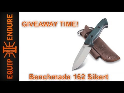 Benchmade 162 Sibert Bushcraft Knife Giveaway by Equip 2 Endure