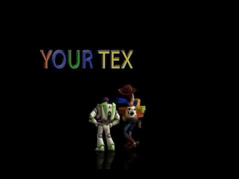 I will make a Toy Story HD Cartoon Video with your Text