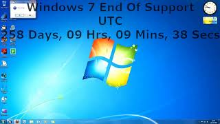 Windows 7 End Of Support Countdown