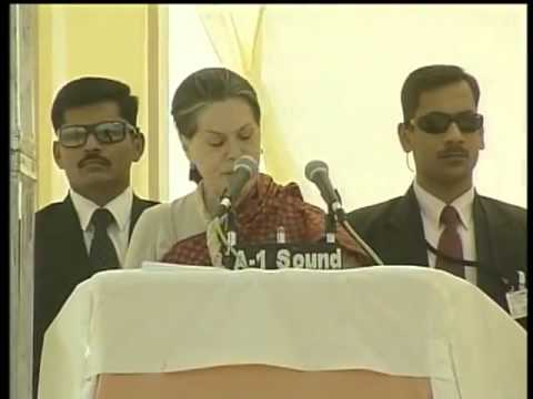 Smt.Sonia Gandhi attacks Narendra Modi Govt.@ Kalol for the poor condition of dalits and OBC