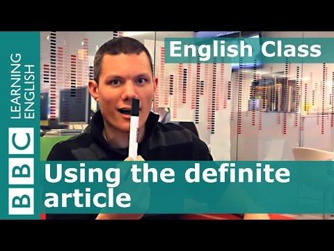 BBC English Class: The definite article