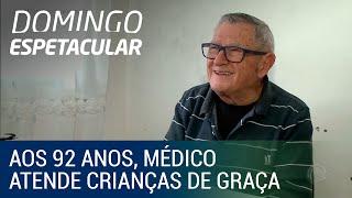 Aos 92 anos, médico atende crianças de graça