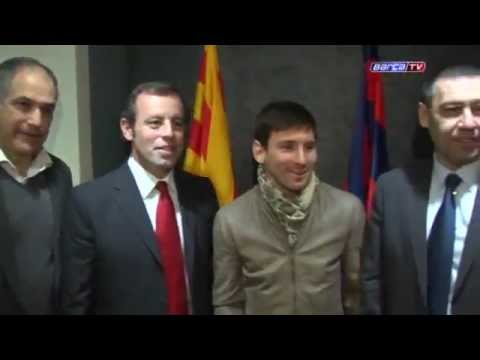 Lionel Messi Signed Contract With Fc Barcelona Until 2018