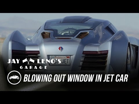 Jay Leno Blows Out The Window In His Jet Car - Jay Leno's Garage