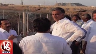 Harish Rao Siddipet Tour | Inspects Ranganayaka Sagar Works and Kaleshwaram Project SE Office