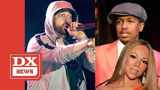 Eminem Takes Shots At Nick Cannon & Mariah Carey On Fat Joe Track 'Lord Above'