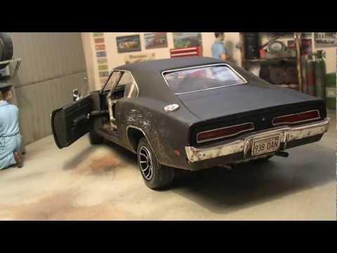 Dodge Challenger 1969 Black >> 1:18 Death Proof Dodge Charger - YouTube