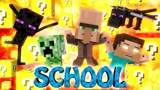 Minecraft | LUCKY BLOCK BOSS CHALLENGE - Baby Monster School! (Baby Mobs, School, Monster School)