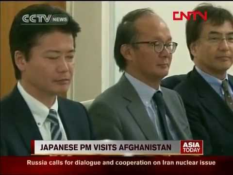 Japanese PM visits AFG;  pledges aid in meeting with Karzai