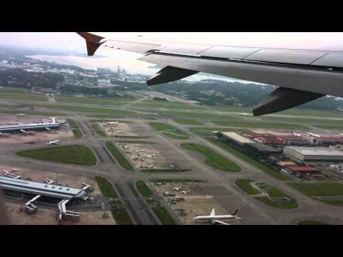 Singapore Tiger Airways Take off  Singapore-Kuala Lumpur