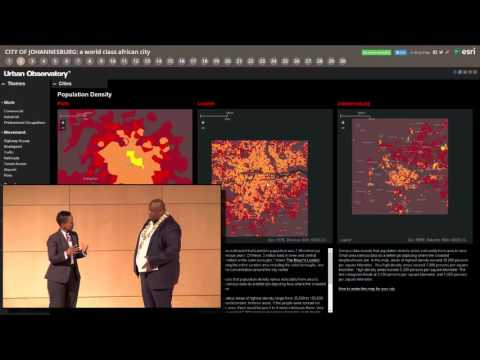 Esri Africa User Conference  2015 :  City of Johannesburg