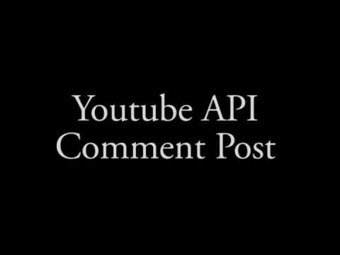 youtube api comment post