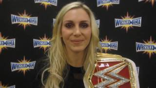 WWE Champ Charlotte Interview at WrestleMania 33 Orlando Party Nov. 2016