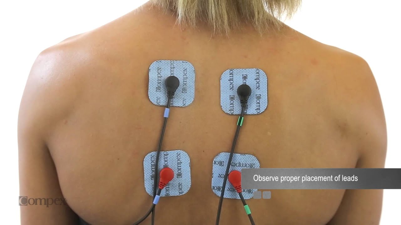 upper back electrode placement for compex muscle stimulators youtube. Black Bedroom Furniture Sets. Home Design Ideas