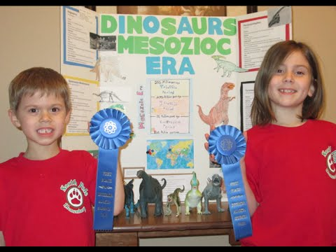 Dinosaur Science Fair Project Mesozoic Era Tyrannosaurus Rex Triceratops Apatosaurus Velociraptor