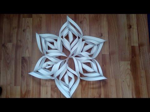 Как сделать снежинку из бумаги в 3d