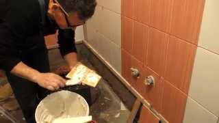 How to Tile a bathroom wall tiles