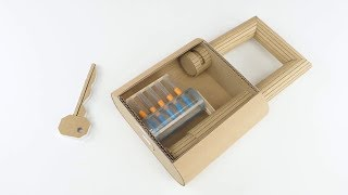 How to Make Fully Functional Lock from Cardboard At Home