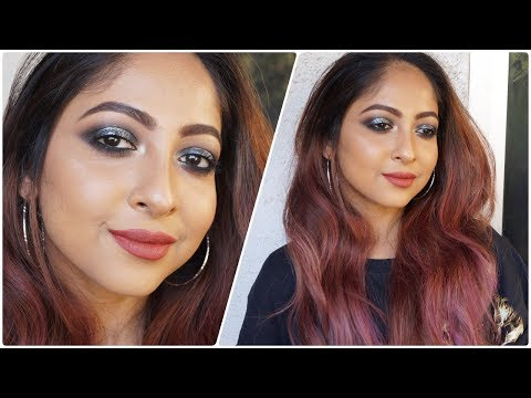 SILVERY BLACK Smokey Eyemakeup for Parties/Indian Weddings | Stacey Castanha