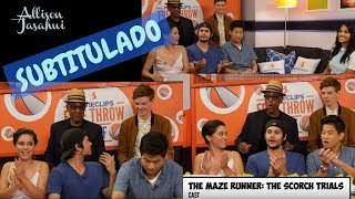 Maze Runner Cast - Entrevista w/ Dylan O'Brien, Thomas Brodie-Sangster, Ki Hong & More | SUBTITULADO