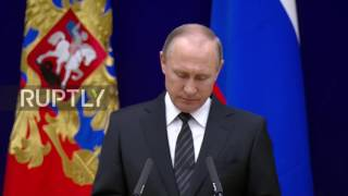 Russia: Extremist groups 'used as weapons' against Russia - Putin in address at SVR HQ