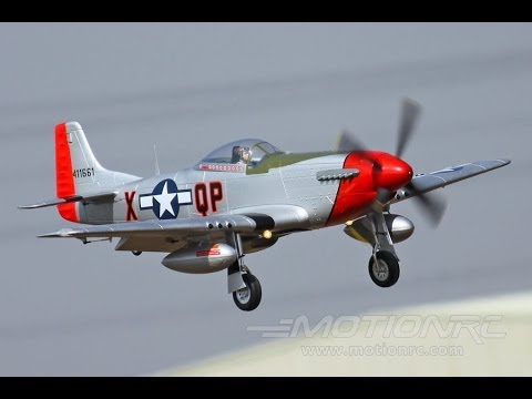 Freewing P-51D Mustang with Realistic Engine Sound System   Motion RC