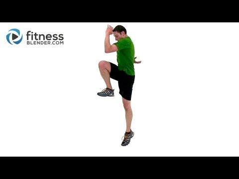 Plyometric and Cardio HIIT for Legs - Fitness Blender HIIT Plyo Workou...