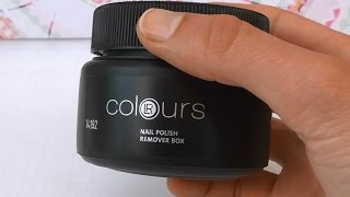 LR Colours Nail Polish remover box / Nagellackentferner von LR im Test / Review