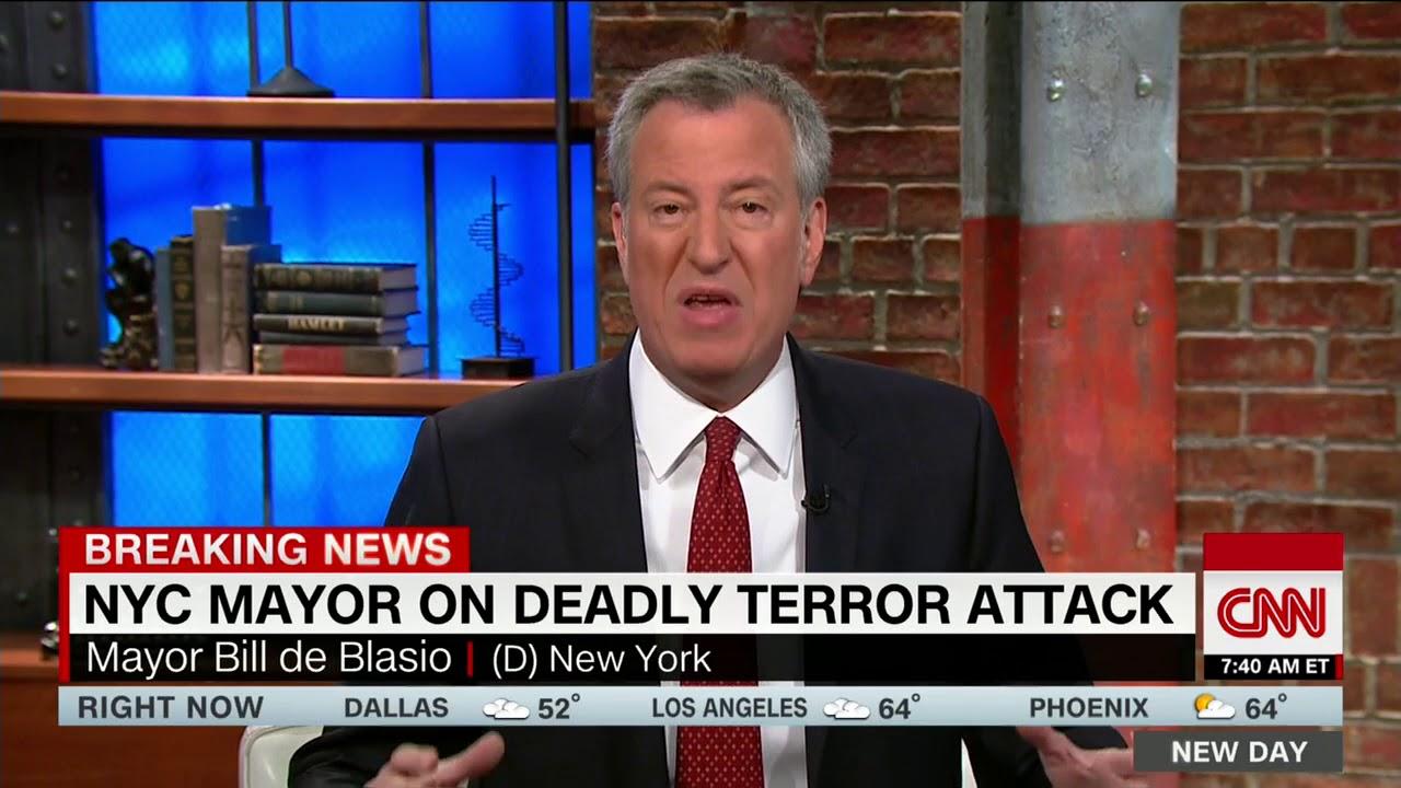 Bill de Blasio: Trump, don't politicize tragedy