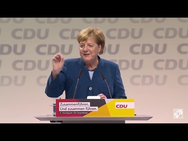 Merkel geht в letzte Rede als CDU-Chefin