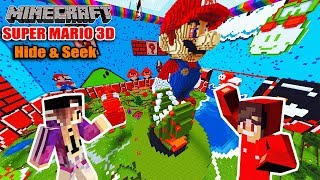 Minecraft: VERSTECK SPIELEN IN SUPER MARIO 3D WORLD! Nina vs Kaan Super Mario Hide and Seek