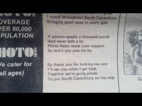 Photo News South Canterbury's first free newspaper - Ron E Bishop Timaru NZ