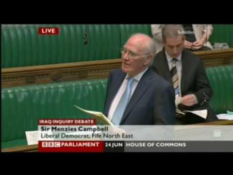 Iraq Chilcot Inquiry debate, Menzies Campbell, 24th June 09