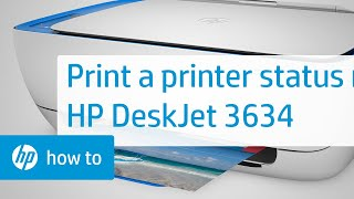 02.Printing a Printer Status Report on the HP DeskJet 3634 Printer