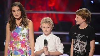 Martha, Reilly and Fletcher Sing Let Her Go | The Voice Kids Australia 2014
